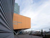 Fragment av stads- moder för geometriska moderna arkitekturbyggnader Arkivbild
