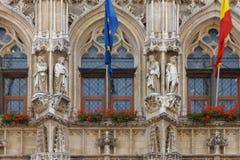 Fragment av stadshuset i Leuven _ Royaltyfri Bild