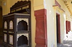 Fragment av stadsslotten i Jaipur Indien Royaltyfria Foton