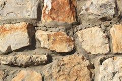 Fragment av stenfasadbeklädnad Arkivbilder