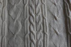 Fragment av stucken vit linne handwork royaltyfria bilder
