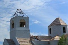 Fragment av under-konstruktionskyrkan Fotografering för Bildbyråer