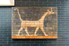 Fragment of the Babylonian Ishtar Gate in the Istanbul Archaeolo Stock Image