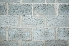 Part of the masonry wall at a construction site. royalty free stock images