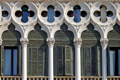 Fragment of balconie in Venice, Italy Stock Photography