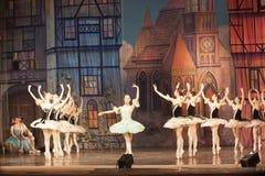 Fragment of the ballet. KHARKOV, UKRAINE - JANUARY 5, 2012: A fragment of the ballet Coppelia by Leo Delibes at the Kharkov Academic Opera and Ballet Theatre on Royalty Free Stock Photos