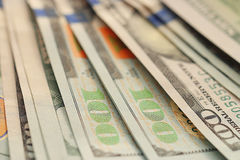Fragment banknotes US Stock Image
