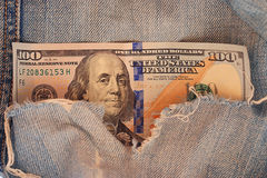 Fragment banknotes US Royalty Free Stock Image