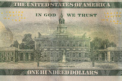 Fragment banknotes US Royalty Free Stock Image
