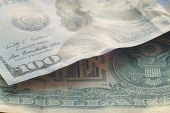 Fragment banknotes US Royalty Free Stock Photos