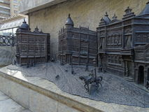 Fragment of the bas-relief on the history of the city of Krasnodar Stock Photos