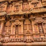 Fragment of bas-relief tower Hindu Brihadishvara Temple, India, Stock Image