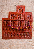 Fragment of a bas-relief on the wall in Mehrangarh Fort, Jodhpur Stock Photography