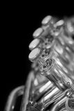Fragment of a bass tuba valves Royalty Free Stock Image