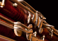 Fragment of the bassoon Stock Photography
