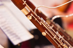 Fragment bassoons Stock Image