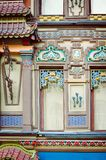 Fragment of the beautiful facade of the building in the oriental style. Vertical photography. stock image