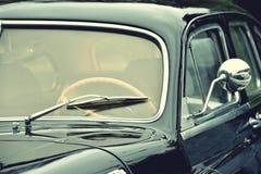 Fragment of beautiful stylish old car. Elegance. Prestige. Vinta Stock Image
