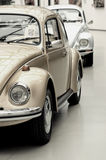 Fragment of beautiful stylish old cars. Vintage style. Royalty Free Stock Photos