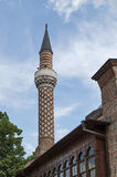Fragment of beauty minaret of the mosque in Plovdiv Stock Photos
