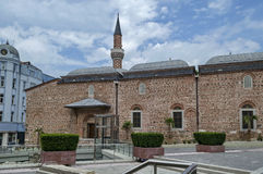 Fragment of beauty mosque and excavations in center  of Plovdiv Stock Photo