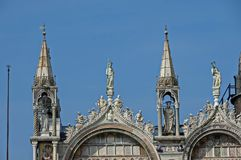 Fragment of  beauty Saint Mark`s Basilica at San Marco square or piazza Stock Image