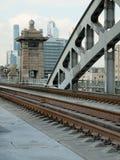 Fragment Berezhkovskaya railway bridge Royalty Free Stock Photography