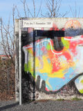 Fragment of Berlin Wall at the Bornholm Bridge Royalty Free Stock Photography