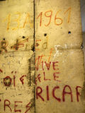 Fragment of the Berlin wall in Museum In Berlin Germany Royalty Free Stock Photos