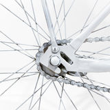 Fragment of a bicycle Stock Images