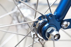 Fragment of a bicycle wheel Stock Photography