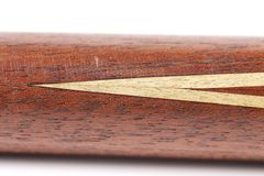 Fragment billiard cue. Royalty Free Stock Images