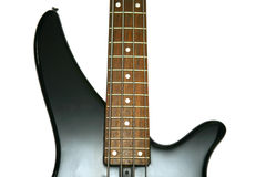 Fragment of black  Bass Electric Guitar Stock Images