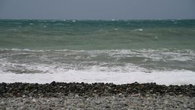 Fragment of Black Sea during the storm stock video