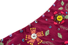 Fragment of blanket. Fragment of ancient colorful blanket Royalty Free Stock Images