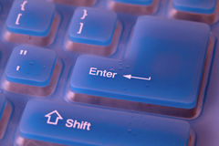 Fragment of blue flexible keyboard Royalty Free Stock Image