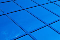 A fragment of blue glass building Royalty Free Stock Image