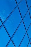 A fragment of blue glass building Stock Photos