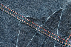 Fragment of blue jeans Royalty Free Stock Photo