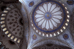 Fragment of Blue Mosque Interior. Fragment of Blue mosque (Sultanahmet mosque) interior in Istanbul in Turke Royalty Free Stock Image