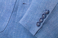 Fragment of blue silk men's suit Stock Photos