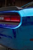 Fragment of blue sport car Stock Photo