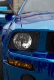 Fragment of blue sport car Royalty Free Stock Photos