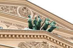 Fragment of the Bolshoi Theater in Moscow Stock Images