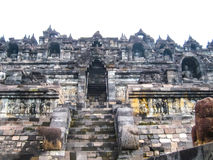 The fragment of Borobudur Temple, Central Java at Indonesia Stock Photo