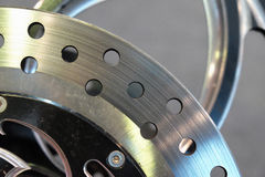 Fragment of a brake disc Royalty Free Stock Image