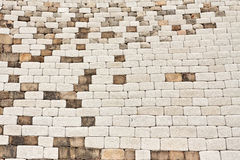Fragment of a brick fortress wall Stock Image