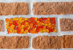 A fragment of a brick wall Stock Photo