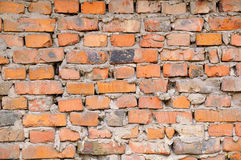 A fragment of a brick wall Royalty Free Stock Photo