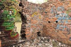 Fragment of a brick wall Royalty Free Stock Photos